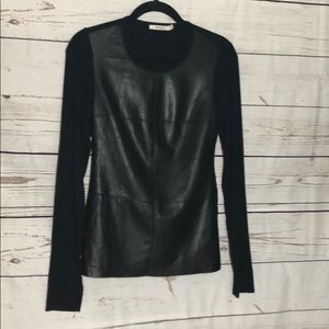 Bailey 44 Black Vegan leather top